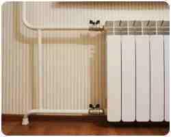 Установка чугунного радиатора отопления 122